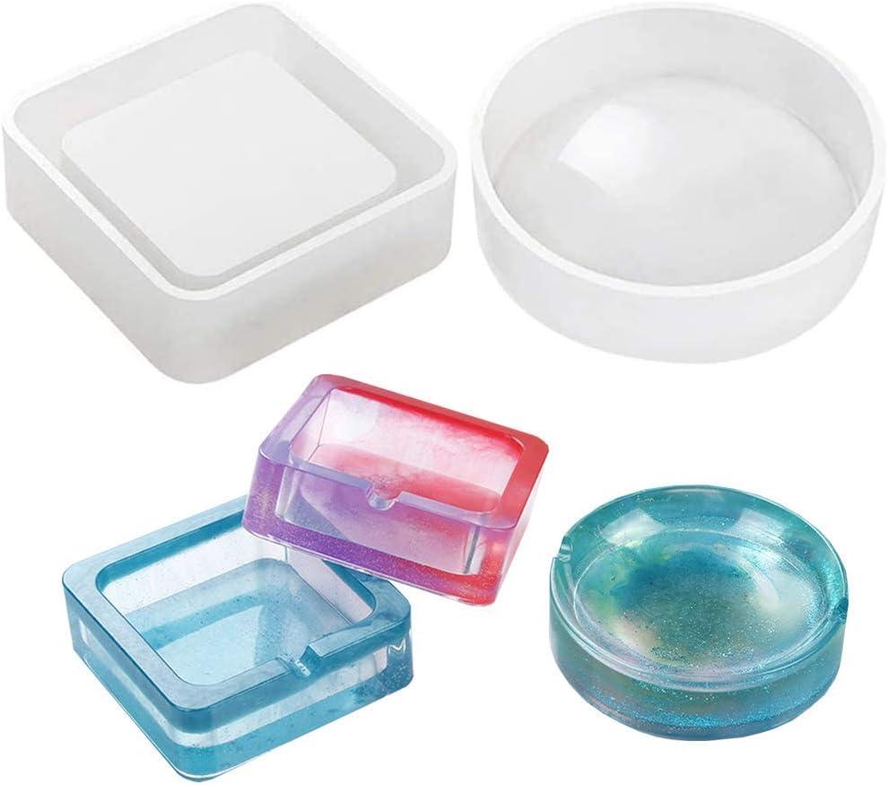 2 moldes de silicona para resina (ceniceros)
