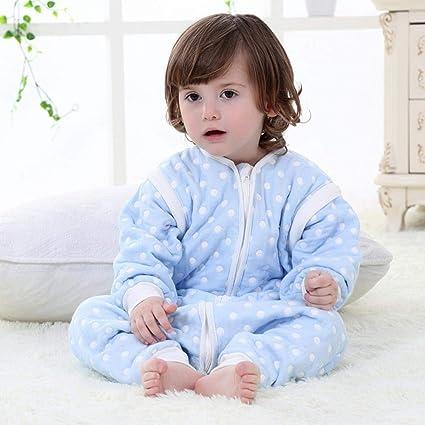 Gleecare Saco de Dormir para bebé,Otoño algodón Gasa bebé Transpirable Calientes niños Anti Kick