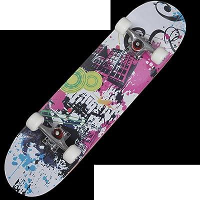 Skateboarder professionnel Rue de brosse skateboard Quatre roues  skateboard Double planche à roulettes 8dcb3e779b5