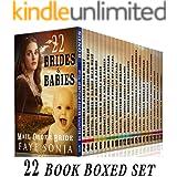 Mail Order Bride: 22 Book Boxed set :  22 Brides & Babies :CLEAN Western Historical Romance Series Bundle