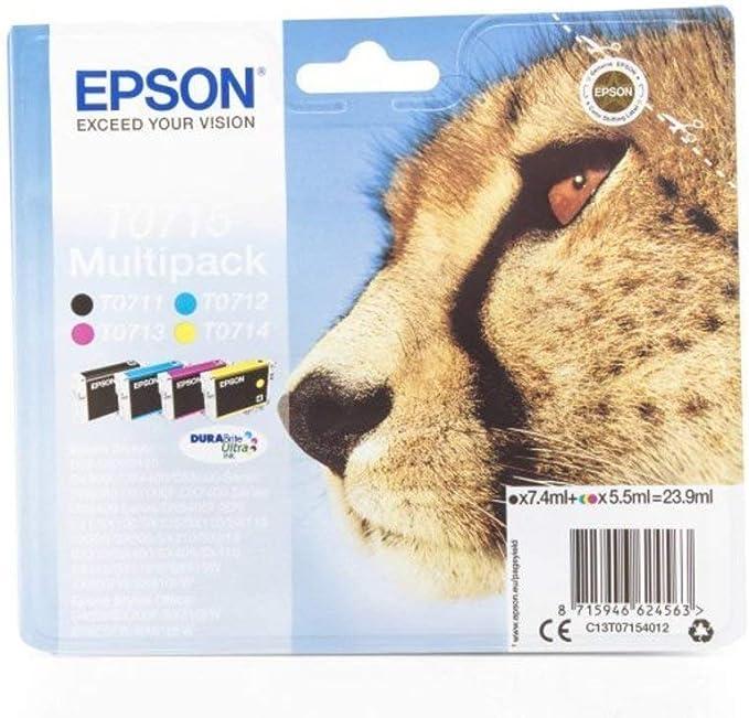 Epson Stylus Sx 105 T0715 C 13 T 07154010 Original Tintenpatrone Multipack Schwarz Cyan Magenta Gelb Bürobedarf Schreibwaren