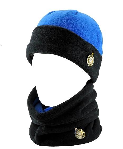 Set in pile cappello + scaldacollo prodotto ufficiale Inter  01569 ... 23aa47175907
