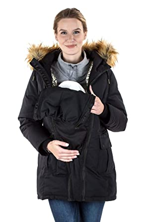 aa5523da3dc12 Modern Eternity Maternity Coat 3 in 1 Technology Down Filled Parka at  Amazon Women's Clothing store: