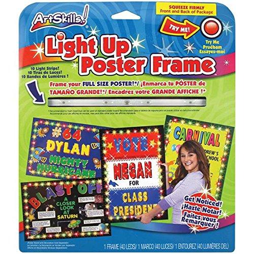 ArtSkills Light Up Poster Frame, Full Size, 1 Frame, 40 Blinking Lights Pa-1404