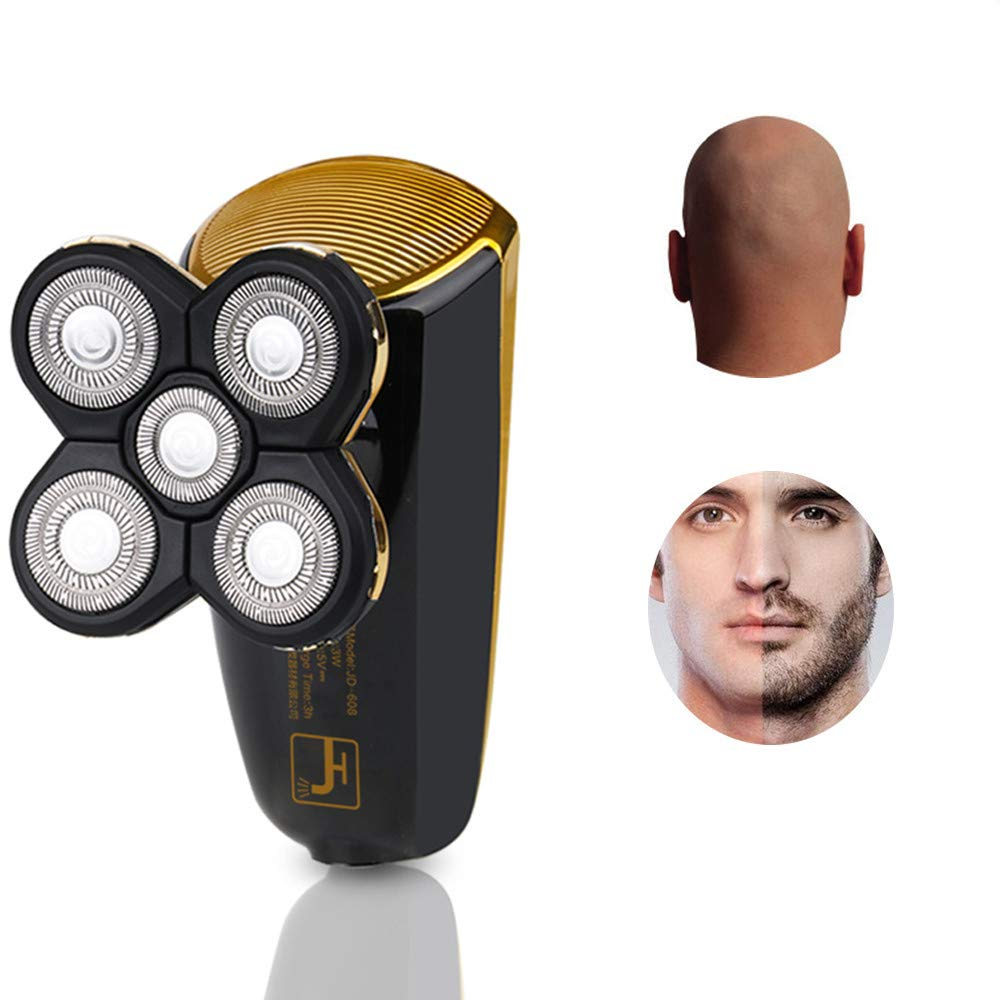 Bald Shaver, CHIRISEN Beard Trimmer 2 in 1 Rotary Shaver Wet and Dry IPX7 Waterproof 5 Head Electric Razor for Head and Face USB Rechargeable