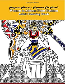 Women In African Print Fashion Adult Coloring Book For Adults Volume