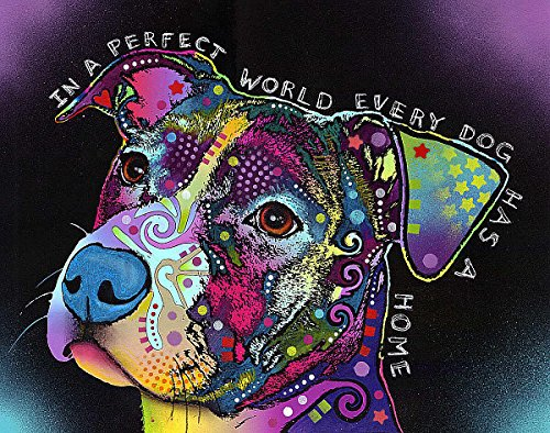 In a Perfect World Dean Russo Animal Dog Motivational Poster (Choose Size of Print or Canvas)