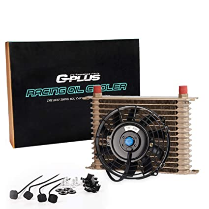 28 Row AN-10AN Universal Engine Transmission Oil Cooler +