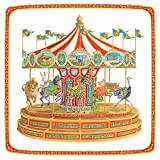 Entertaining with Caspari Carousel Square Dinner Plates (8 Pack), Red