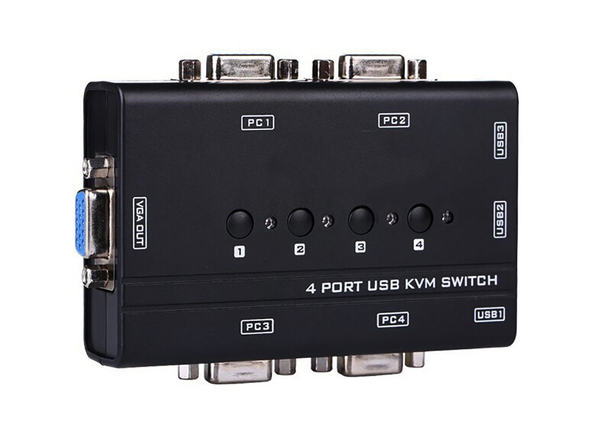 KVM Switch USB and Cable Kit (4 Port) by IFANCY-TECH