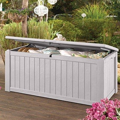 Keter Rockwood Jumbo 150 GL / 570 L White Outdoor Deck Storage Box by Keter