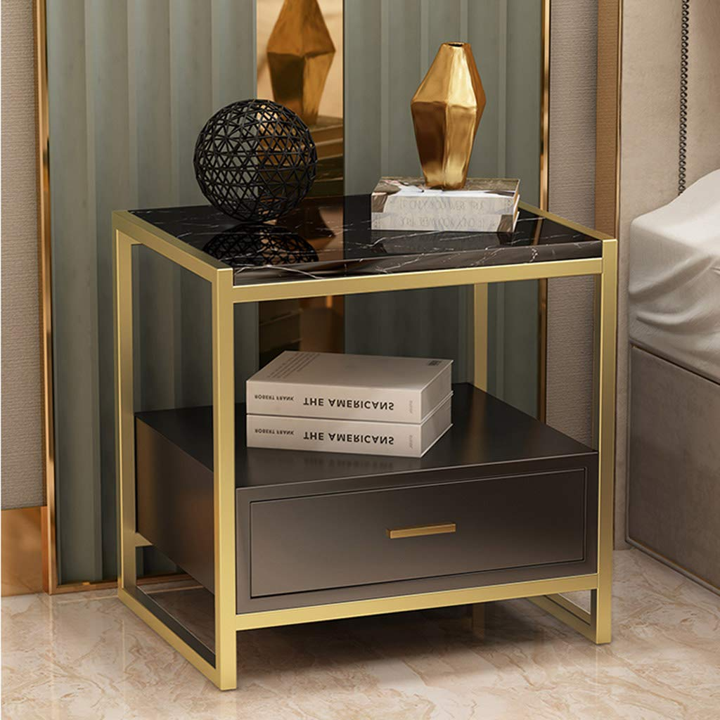 Nachttisch Regal Nordic Marble Light Nachttisch Einfach Modern Side Bedroom Line Beistelltisch Mit 1 Schublade