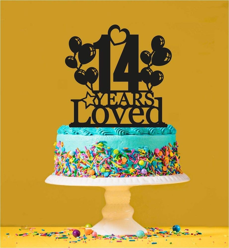 14th Birthday Loved Cake Topper - 14 Years Old - Fourteenth