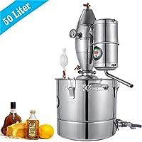 Topqsc 4,4 galones Agua Alcohol destilador 304 Acero