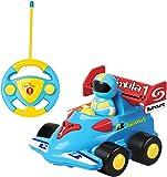 DeeXop Rc Cartoon Car With Mini Figures Rc Racing Car For Toddler With Music And Light (CR09)
