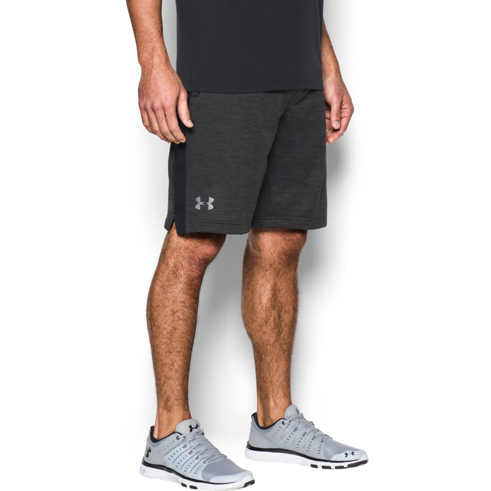 Under Armour Men's Tech Terry Shorts, Carbon Heather (090)/Silver, Small