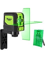 Huepar Green Laser Level DIY Laser Self-Leveling 98 Ft Cross Green Beam Laser Horizontal and Vertical Lines, Bright Laser with Magnetic Pivoting Base and Laser Target -9011G