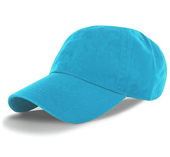 43ceadf04b394 American Cities Plain Dad Hat 100% Cotton Unstructured Hat Unisex  Adjustable Strap - Aqua