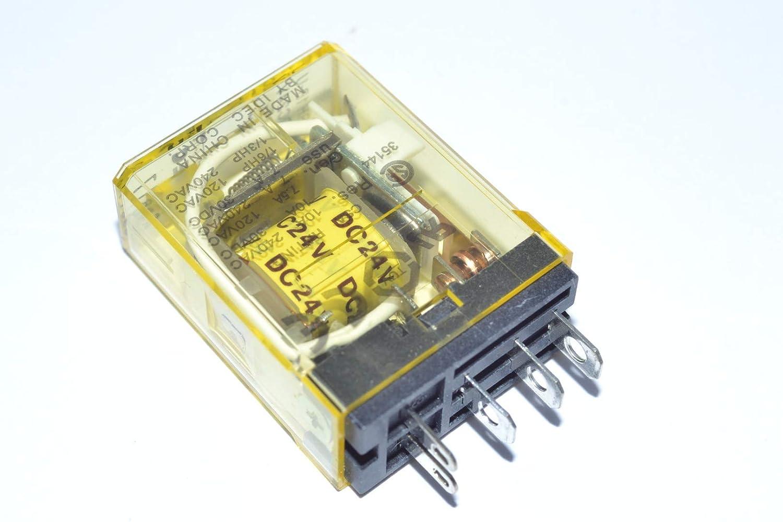 FREE SHIPPING LOT OF 5 - USED IDEC RH1B-UL 24VDC RELAYS