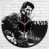 Elvis Presley Music Vinyl Record Wall Clock Fan Art Handmade Decor Original Gift Unique Decorative Vinyl Clock 12″ (30 cm)