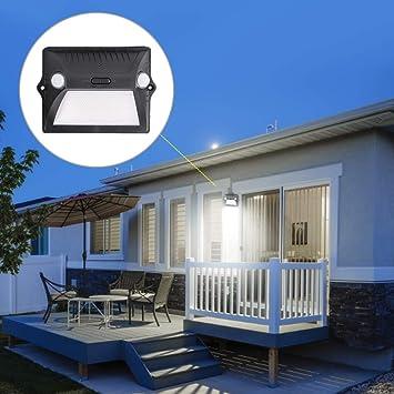 Riuty Luz Solar para Exteriores, Sensor de Cuerpo Humano Lámpara de Pared para jardín IP65 Resistente al Agua, Adecuada para Usar en Jardines, Patios, estacionamientos, etc.: Amazon.es: Hogar
