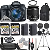 Canon EOS 7D Mark II Digital SLR Camera + Canon EF-S 18-55mm IS STM Lens + Battery Grip + Backup Battery + 2 Of 32GB Memory Card. All Original Accessories Included - International Version