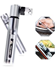 Mini Bomba para Bicicleta portátil Saiveina Bomba de Aire, con Válvulas Presta y Schrader, con 160 PSI, Ideal para Carretera, Montaña, BMX, Cyclocross y Bicicletas Híbridas etc.