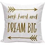 Squre Pillowcase,Kingko® ''DREAM BIG'' Letters Lines Pillow Case Sofa Waist Throw Car Cushion Cover Home Decor