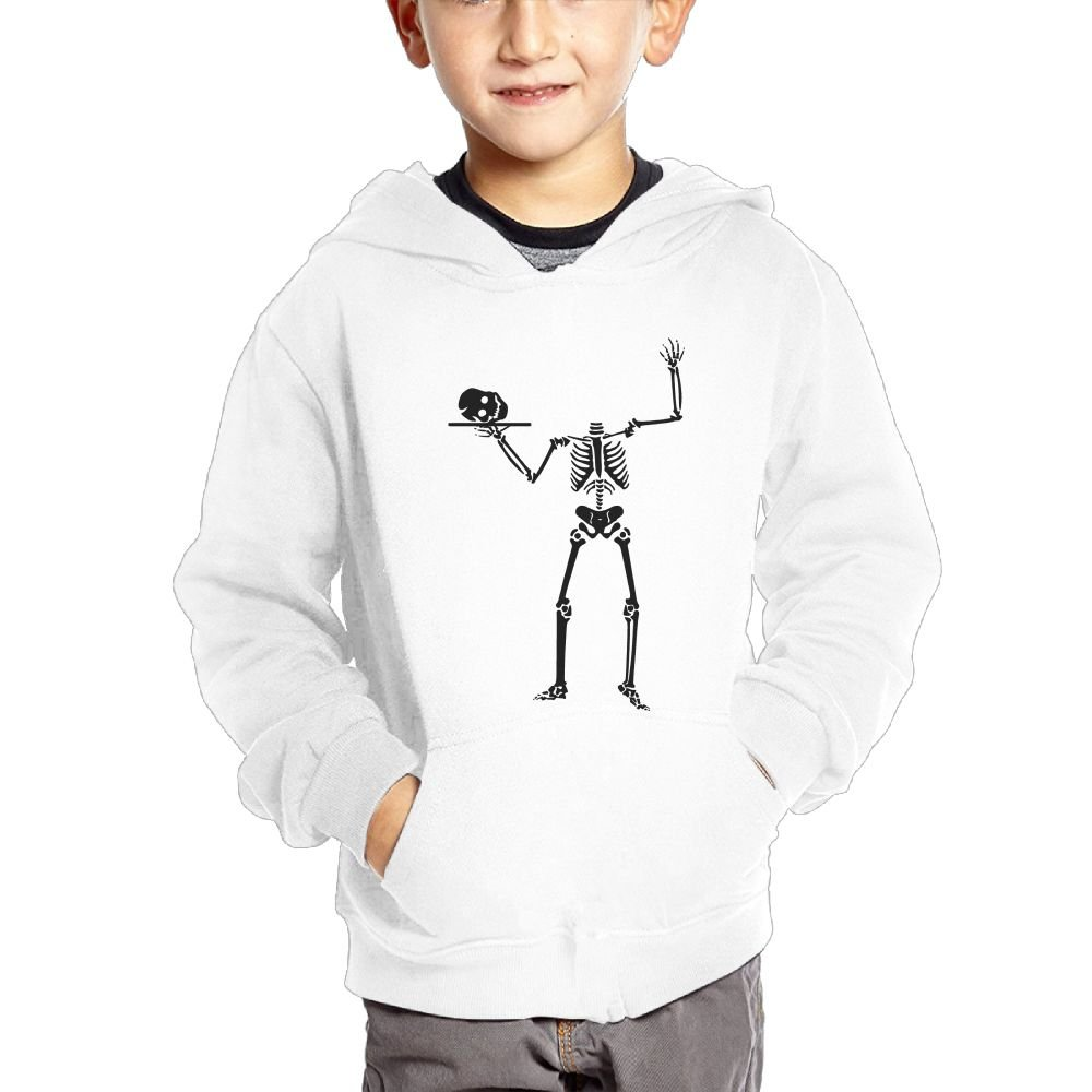 Anutknow Funny Skeleton Without Head Childrens Fashion Casual Hooded Pocket Sweater