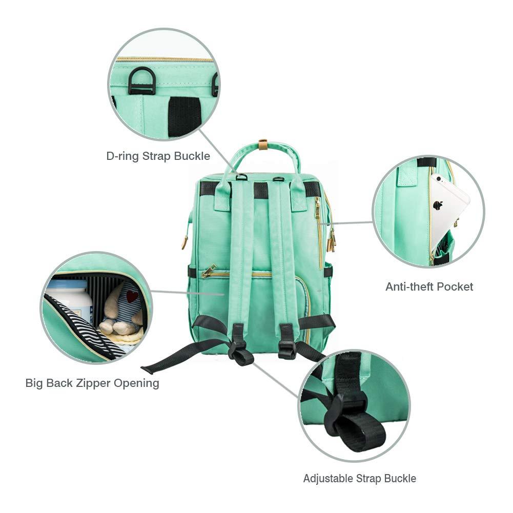 Grande Capacit/é Sac /à langer Runka Sac /à dos de voyage imperm/éable pour les soins du b/éb/é avec poches isolantes Sac /à dos Sac /à langer pour b/éb/é Durable pour Sac /à langer