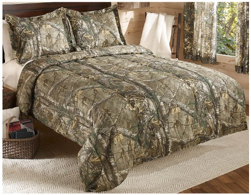 Realtree Xtra Mini Comforter Set, Twin, Tan, Camo (Tan Camo)