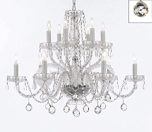 Murano Venetian Style All Empress Crystal Tm Chandelier