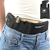 Ultimate Belly Band Holster for Concealed Carry   Black   Fits Gun Smith and Wesson Bodyguard, Shield, Glock 19, 42, 43, P238, Ruger LCP, and Similar Sized Guns   For Men and Women   Right Hand Draw