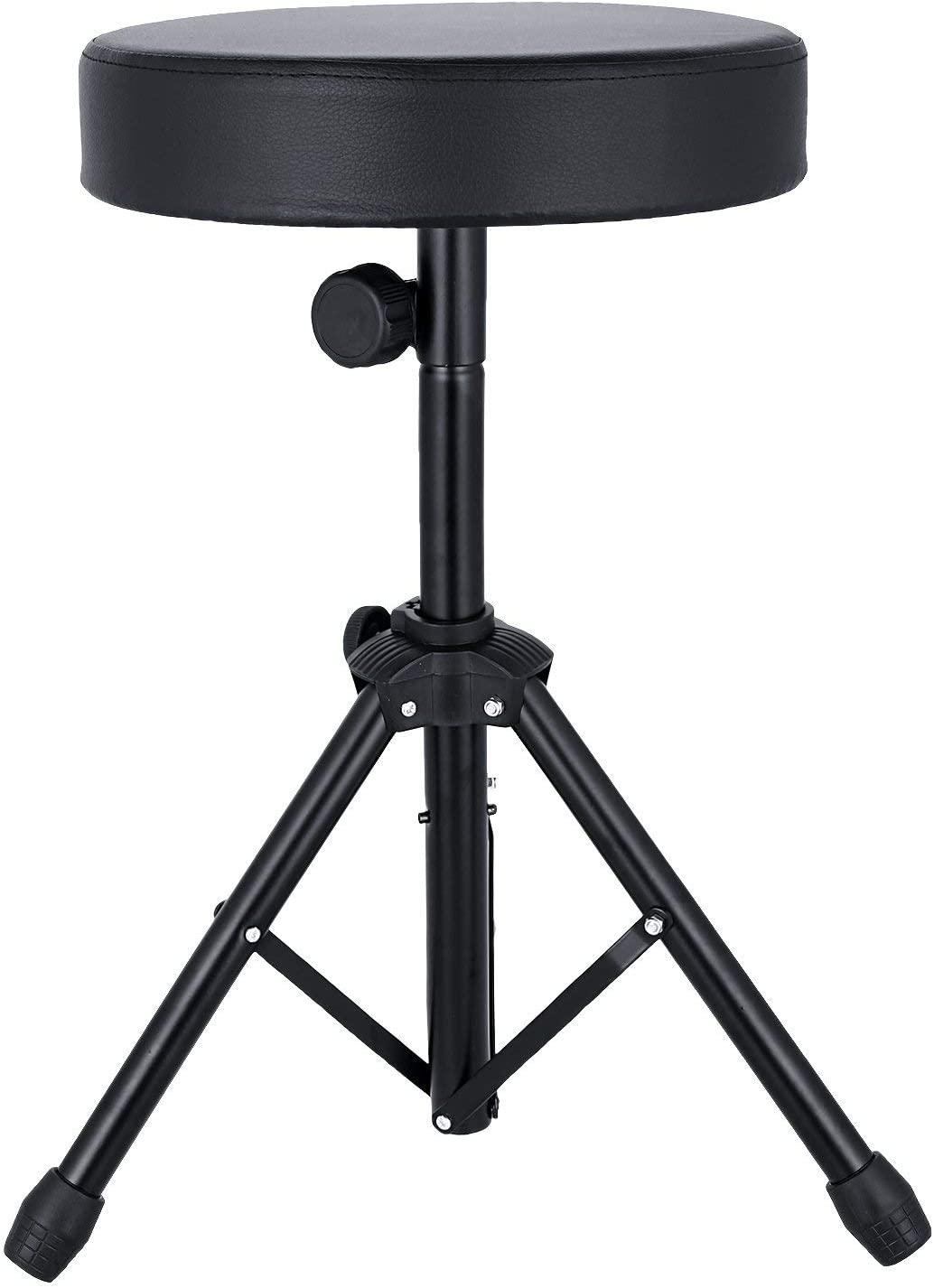 Sailnovo Universal Drum Throne,Padded Drum Seat Rotatable drumming Stools with Anti-Slip Feet for Adults and Kids Black
