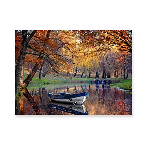 Melissa & Doug Mirror Pond Autumn Boat Cardboard Jigsaw Puzzle (500 Pieces) ()