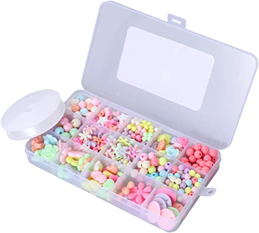 HEALLILY 330Pcs Diy Beads Set String Beads Acrílicos en Una Caja ...