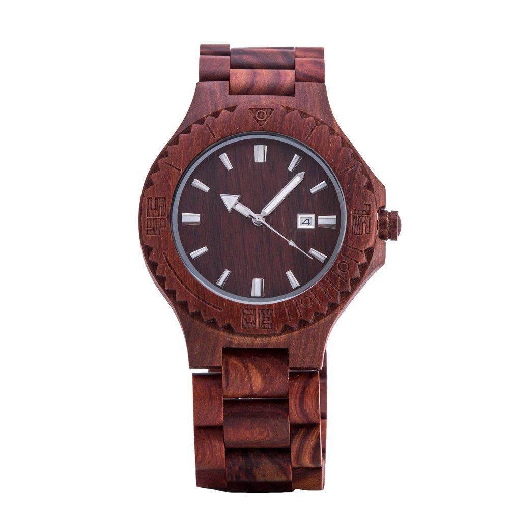 4c3f43e0bad5 kenon - madera reloj rojo sándalo Japón Miyota movimiento Sony recargable   KENON  Amazon.es  Relojes