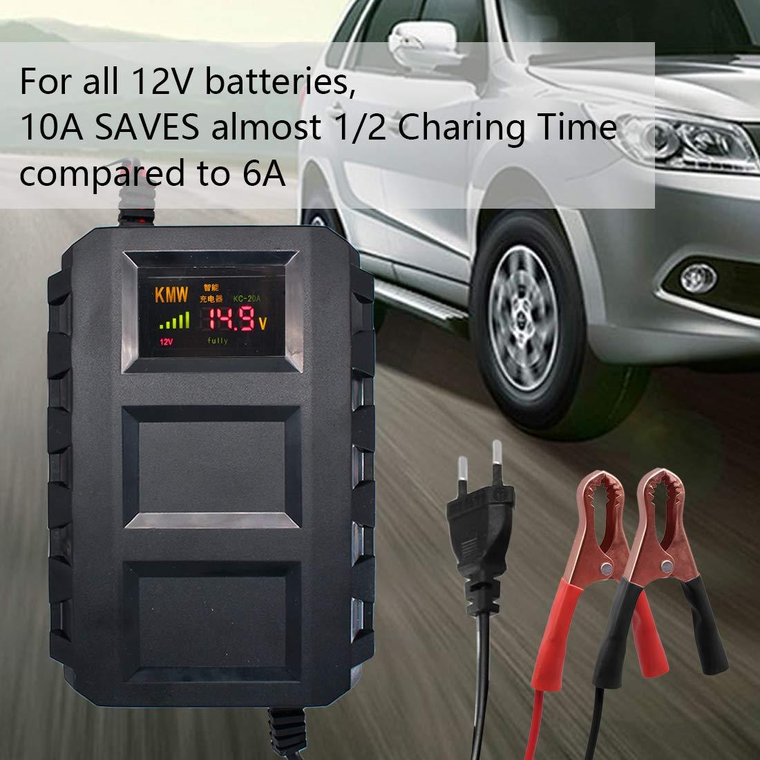 Autobatterieladeger/ät 12V Auto 1300mA Automatica Maintainer Mehrere Schutzfunktionen f/ür Auto,Moto,Kofferraum,Boot