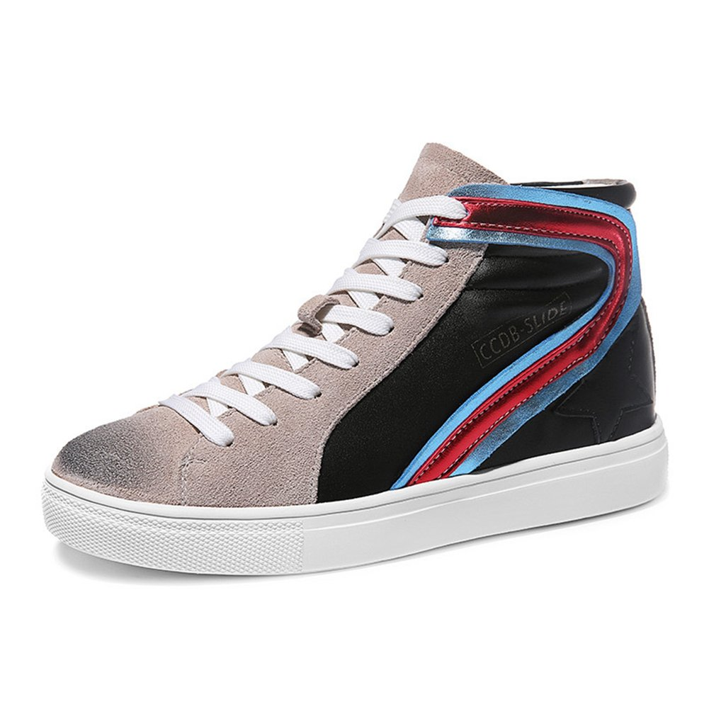 U-MAC High Top Fashion Sneakers for Women's - Anti-slip Rubber Sole Round Toe Breathable Casual Shoes