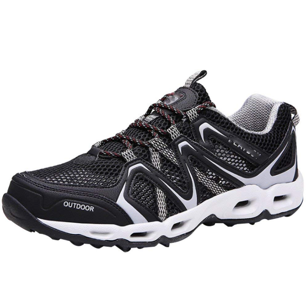 HhGold Beiläufige Wandernde Sportschuhe Der Männer Beschuht Laufende Schuhe Der Schuhe Im Freien Wasserschuhe Atmungsaktivem Maschenkomfort (Farbe   Schwarz, Größe   41EU)