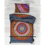 """Mandala Boho Duvet Cover Twin Indian Quilt Cover Cotton Throw Doona Cover With Pillow 52x80 Inch Cotton Handmade Bohemian By """"Handicraftspalace"""""""