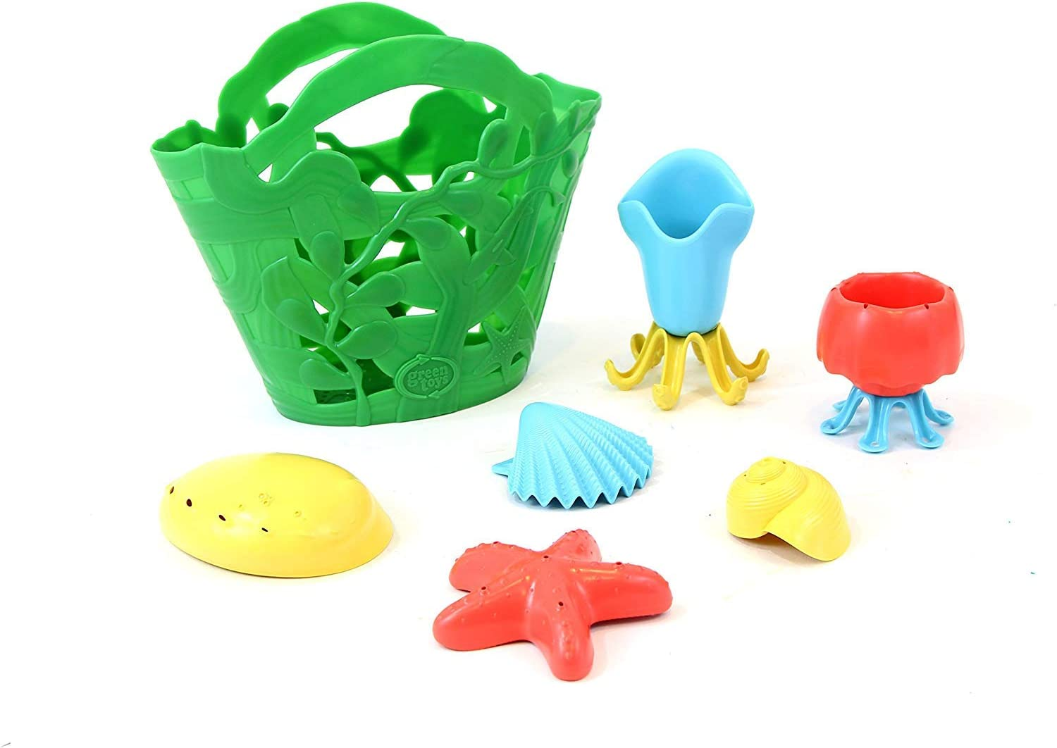 Green Toys TDP1 1311 Tide Pool Bath Toy Set, Assorted