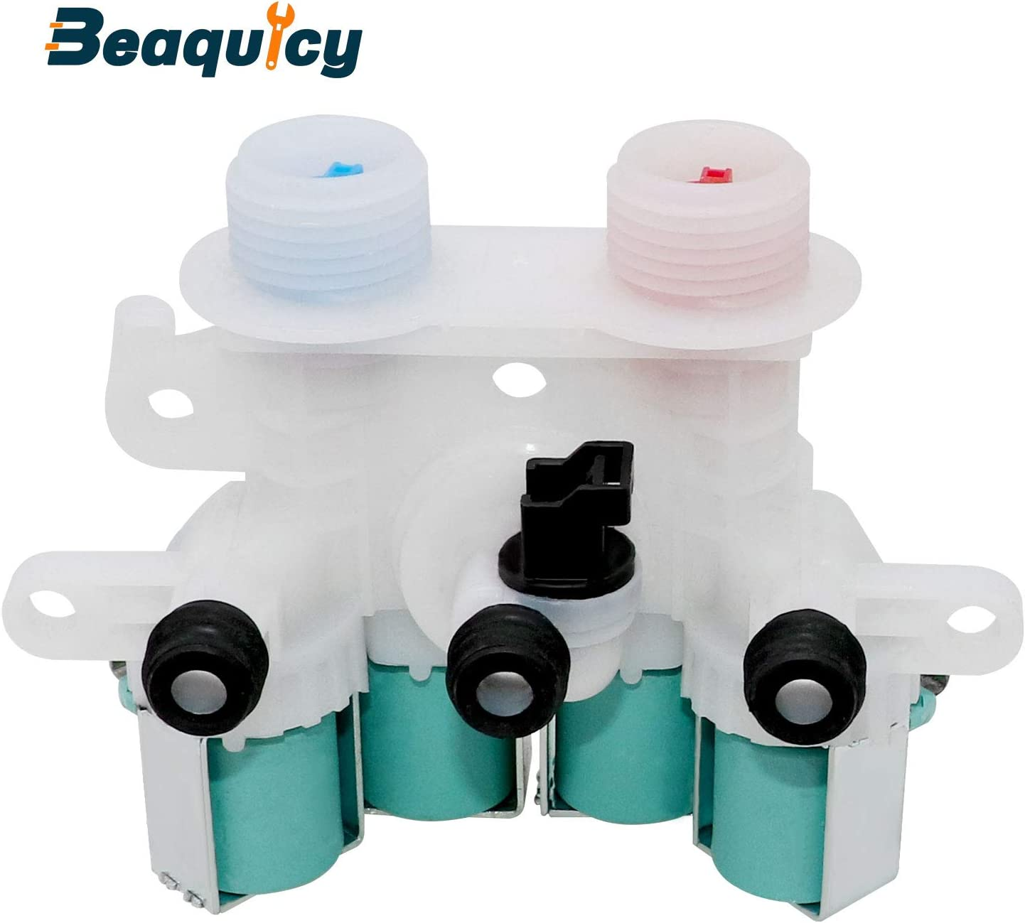 W11165546 Washer Water Inlet Valve GENUINE (OEM PART) by Beaquicy - Replacement for Whirlpool Kenmore Washing Machine - Replaces 33090105 W10599423 W10758828