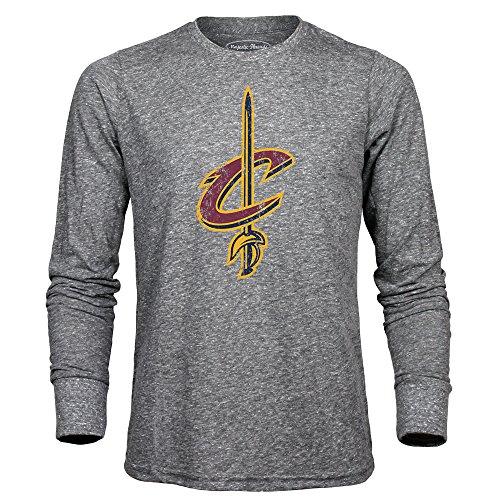 Majestic Threads Adult NBA Men's Premium Triblend Long Sleeve Tee, Heather Grey, -