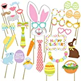 Easter Photo props, Birthday photo booth Props, NO DIY required, attached to the sticks, by USA Sales Seller