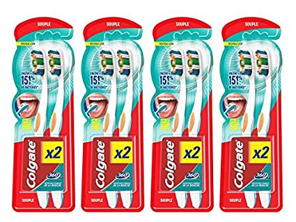 Colgate Oral Care 360 MaxWhite - Cepillo de dientes One suave, 2 unidades - Juego