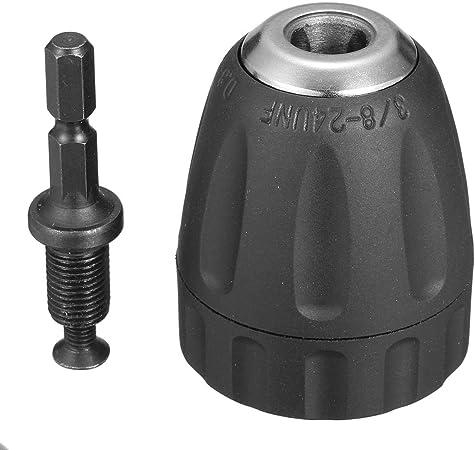 NCONCO Mandrin de perceuse sans cl/é 1//4 Tige hexagonale /à changement rapide 0,3-6,5 mm