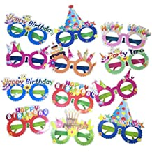 Children's Fun Birthday Party Glasses,12 Pieces