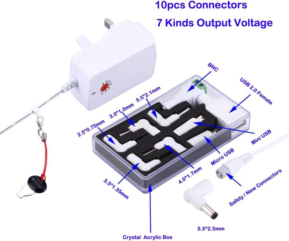 B Plus DEYF Adaptateur Secteur Micro USB europ/éen 5 V 3 A B//Banana Pi//Pi Model B+