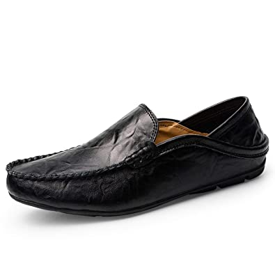 31034c0060c Amazon.com | Men Genuine Leather Shoes Casual Spring Moccasin ...